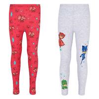 Girls Children Licensed PJ Masks Cotton Leggings Pants Age 3-8