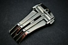 20MM/18MM OMEGA STAINLESS STEEL SILVER CLASP/BUCKLE FOR OMEGA WATCHES.