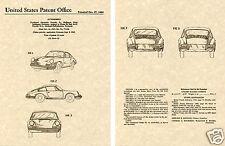 PORSCHE 911 912 US PATENT Art Print READT TO FRAME!!!!! Vintage sports car