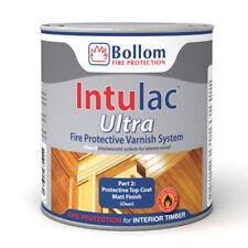 bollom intulac Ultra Manteau Vernis pour bois ignifugé peinture transparent mat
