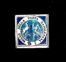 1860 Two Sicilies, provisional government 1/2 Blue, Sc 9,9a $100,000,Replica