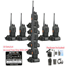 10x Retevis H777 Walkie Talkie 16CH CTCSS/DCS UHF 5W Two Way Radio+ Earpiece US