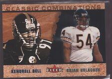 BRIAN URLACHER KENDRELL BELL 2002 FLEER CLASSIC COMBINATIONS MINT BEARS /2000 $8