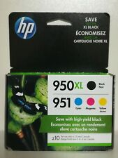 HP 950XL/951 Combo Pack Ink Cartridge, Black/Cyan/Magenta/Yellow 4pack  2021+