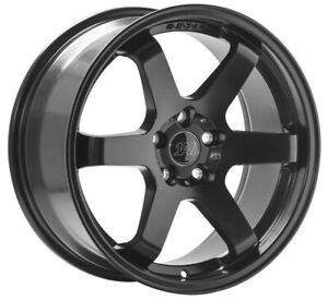 "18"" 1AV ZX6 Alloy Wheels Satin Black 5x114.3 fits Mitsubishi Evo 8 9 X 10"