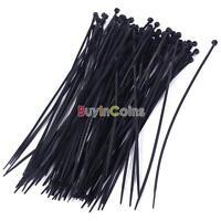 "Lot 100pcs 8"" 3x200mm Nylon Plastic Cable Ties Zip Wire Wrap Strap Durable Kit"
