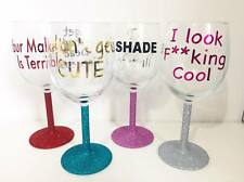 RuPaul's Drag Race Quote Wine Glass Set Adore Delano Bianca Del Rio Alaska ect