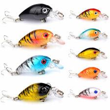 1/9 Pcs Fishing Lures Crankbaits Hooks Freshwater Crank Baits Tackle Bass Minnow