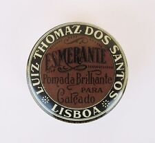 ANTIQUE VINTAGE PORTUGUESE ESMERANTE SHOE POLISH TIN