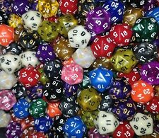 (100) HDDice D20 Random Color Polyhedral Dice Set, 20 Sided Lot Game D&D RPG