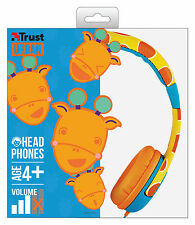 TRUST 20952 SPILA GIRAFFE COMFORTABLE CHILDS HEADPHONES, SAFE VOLUME LIMITATION