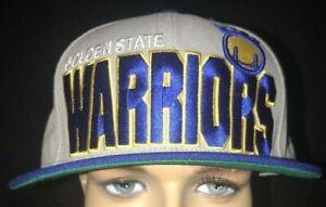 Authentic New Era Golden State Warrior's Big Bold NBA Hat Cap Size 7 1/2