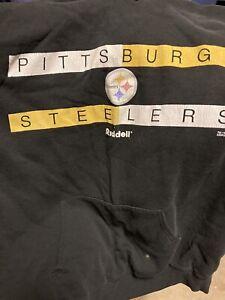 Vintage Pittsburg Steelers Hoodie NFL Riddell Apparel Large 1988 Women