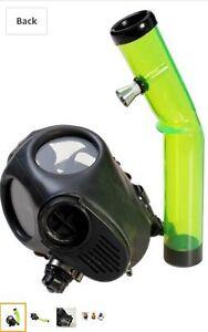 Mask Hookah Bong Gas Smoking Water Pipe Gas Mask Bong