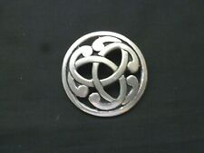 Celtic Brooch Pewter Signed SJC  4 x 4 CM