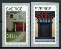 Sweden Architecture Stamps 2020 MNH Doors Buildings 2v S/A Coil Set