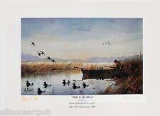 """BILLS IN THE BLOCKS + Free """"OPEN WATER"""" (2) s/n Duck Hunting Prints by Les Kouba"""