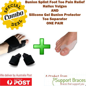 COMBO Bunion Splints Foot Toe Pain Relief Hallux Valgus Brace + Bunion Protect