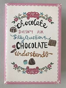 """A6 Lined Notepad - """"Chocolate doesn't ask"""" or """"Would you like an adventure"""""""