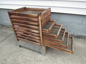Antique 1800's U.S. Cook Stove Fruit Drier Industrial Style End Table