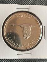 Canada $1 Coin 1967 Centennial Goose Silver Dollar 0.800 Silver