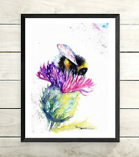 Bee, Sale,Original ,Watercolour ,Print ,Card, Gift, Wildlife,Animal,Art, wall