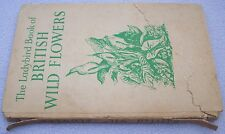 BRITISH WILD FLOWERS Ladybird Series 536 EARLY OPEN WING BLUE PRINT 1957 1st?