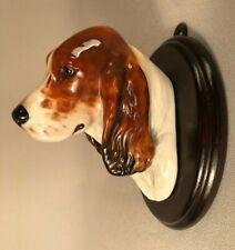 *SCARCE* ROYAL DOULTON, ENGLAND, COCKER SPANIEL DOG WALL MOUNT SK23, 1930's