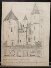 "Dessin Original  PIERRE SUBTIL "" Les  Cloches "" Reims vers 1920 PS 42"