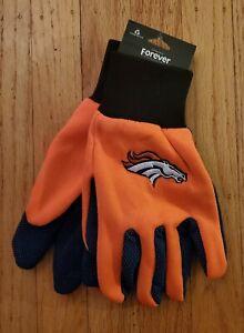 NFL Forever Collectibles Denver BRONCOS Sport Utility Gloves Orange/Navy NEW!