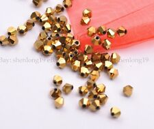 100pcs Bicone Faceted Rondelle Glass Crystal Charms Loose Spacer Jewelry Beads
