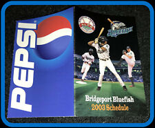 2003 BRIDGEPORT BLUEFISH PEPSI BASEBALL POCKET SCHEDULE