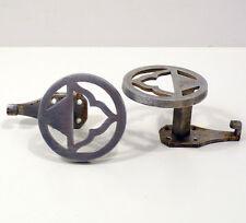 Coppia appendiabito deco' attaccapanni gancio art decò alluminio italia anni '30
