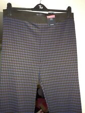 M&s Brown Mix Jeggings Size 18 Short Or Long Brand New