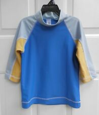 Mini Boden Boy Athletic Shirt Top sz 5-6 Years Blue Polyester Turtle Mock Neck