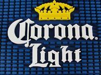 CORONA LIGHT BEER GOLD CROWN 👑 PROFESSIONAL BAR SPILL DRIP SERVICE MAT 9X12 NEW
