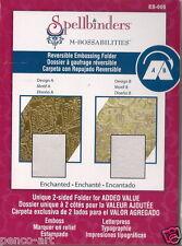 Spellbinders M-Bossabilities Reversible Embossing Folder Enchanted ES-005