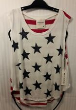 NWT American Rebel PATRIOTIC HOLIDAY Blouse Top Shirt Stars & Stripes Red Wh Blu