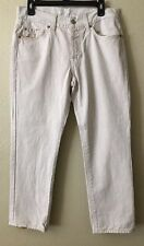 7 For All Mankind Men's Size 32 Light Beige Standard Jeans Straight Button Fly