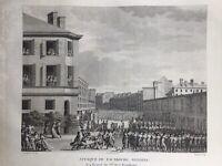 Faubourg Saint Antoine Paris en 1795 Révolution Française Rare Gravure d'époque