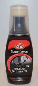 NEW KIWI BLACK SCUFF COVER INSTANT WAX SHINE POLISH 2.4 OZ SHOE BOOT NOIR