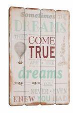 Wandschild Dekoschild Paneel Shabby Vintage Holz Bild Schild Tafel Come True