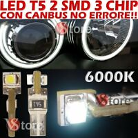 20 LED T5 3 SMD Chips Bianco Per Fari ANGEL EYES CANBUS NO ERRORE Per Depo FK