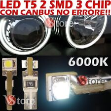 20 LED T5 3 SMD Chips Bianco Per Fari ANGEL EYES CANBUS NO ERRORE Per Depo FK