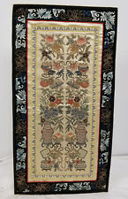 Antique Chinese Silk Embroidered Robe Panels Embroidery Sleeves Scholar's Object
