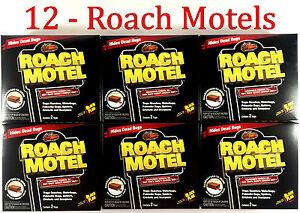 12 Lot Black Flag Roach Motels Cockroach Bug Killer bait Glue Trap Spider Motel