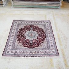 YILONG 6.5'x6.5' HandKnotted Silk Carpet Square Family House Oriental Rug L005B