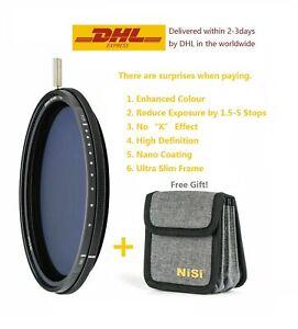 NiSi Filter 82mm ND-VARIO Pro Nano 1.5-5stops Enhanced Variable ND +Bag
