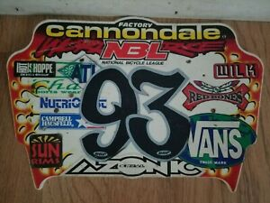 OLD SCHOOL BMX CANNONDALE FACTORY RIDER TEAM PLATE NEVER SOLD VINTAGE RARE HTF