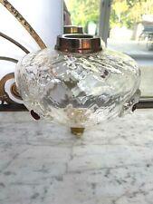 antique dimple large glass oil lamp font with cranberry dots